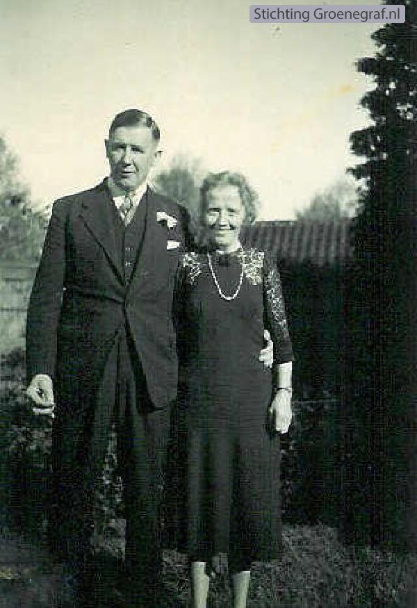 Evert Jan van der Flier en echtgenote G. van Houten