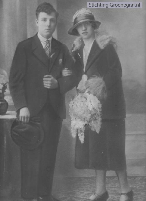 Arie Johannes Cornelis Gaarenstroom en Johanna Maria Petronella Berlips trouwfoto