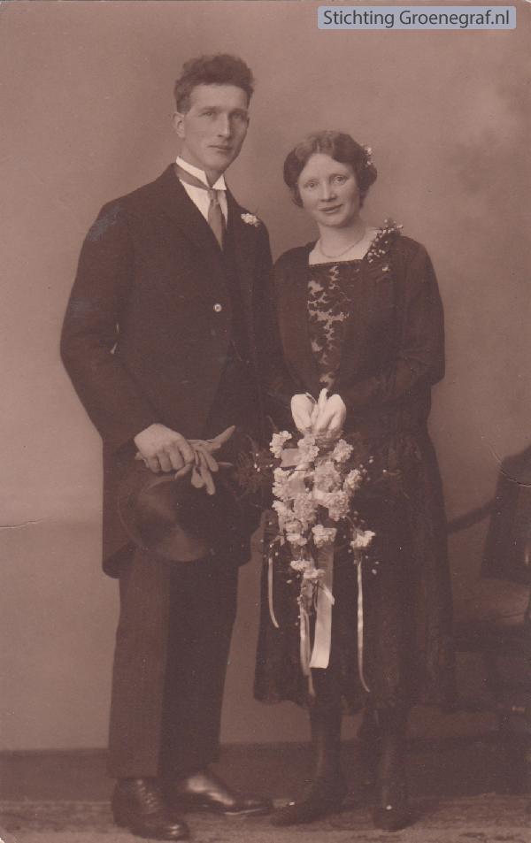 Andries Bleijerveld en Janna van Lambalgen, trouwfoto