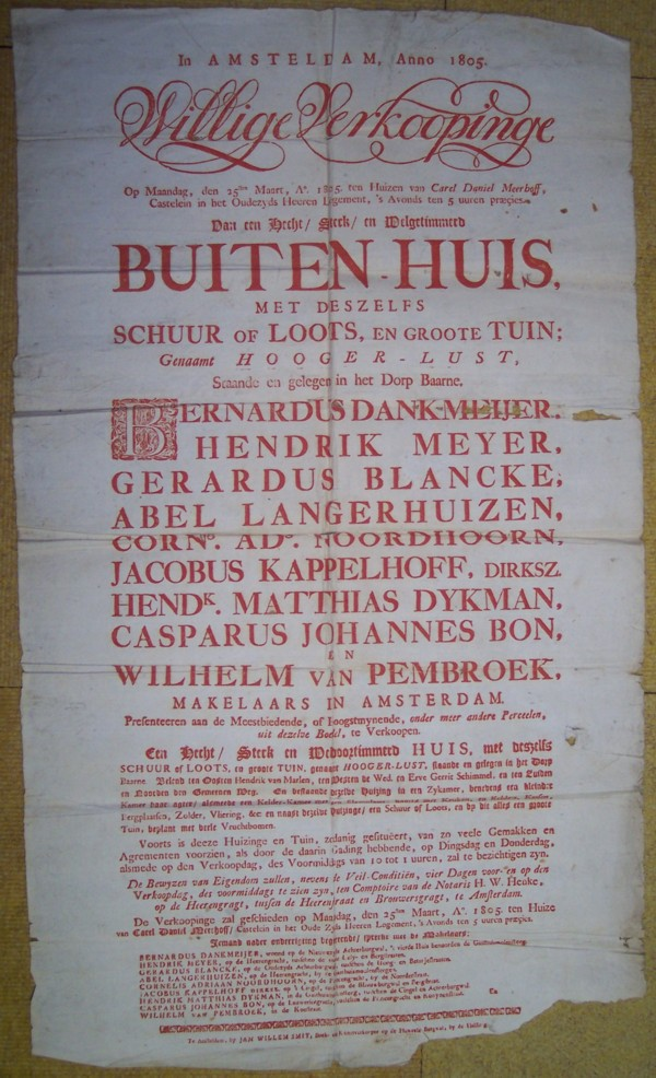 Verkoop Hooger-Lust aanplakbiljet