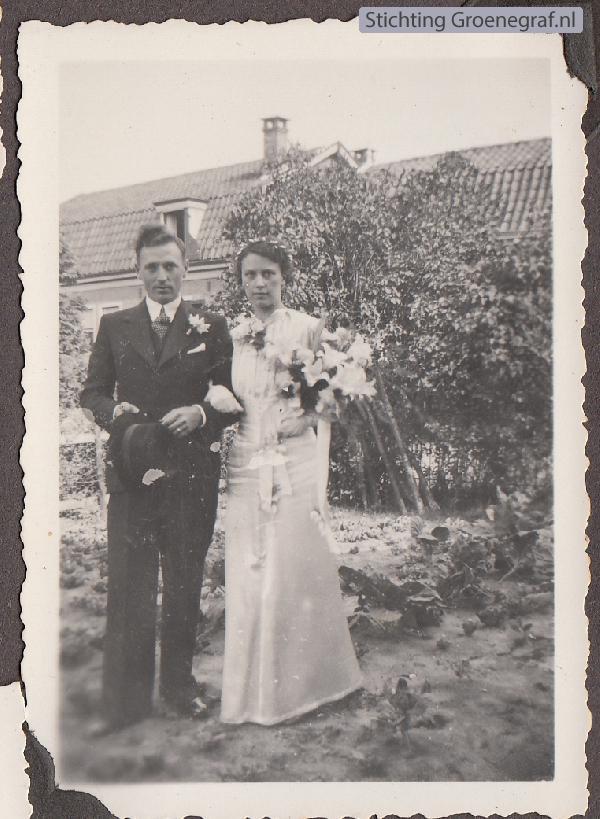 Hendrik Los en Cornelia Hendrika van der List trouwfoto