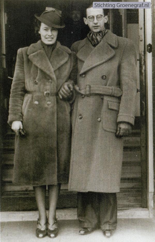 Foto  Hendrika van Essen en Johannes Hendrik van Dort trouwfoto