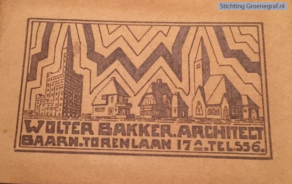 Foto  Visitekaartje Wolter Bakker