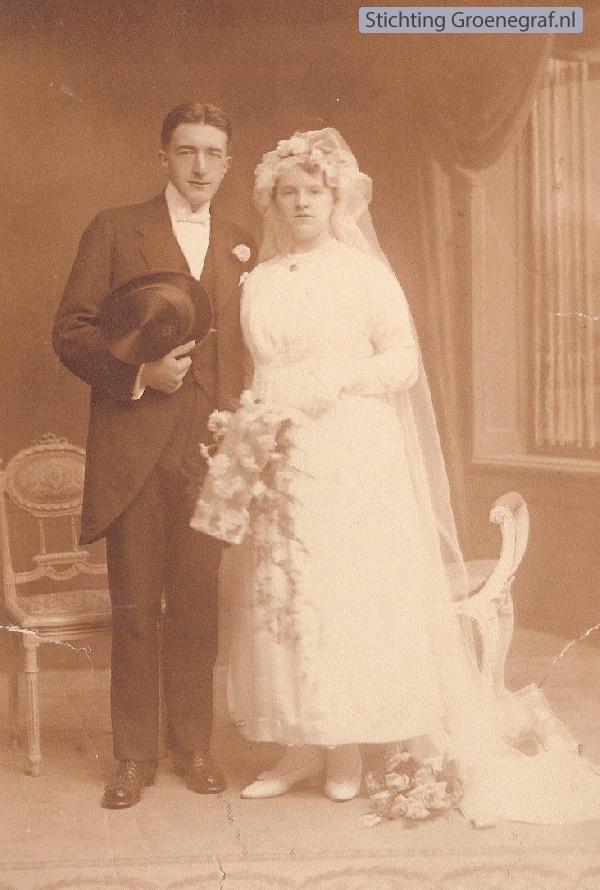 Johannes Henricus Giele en Hendrika Maria Schoots trouwfoto