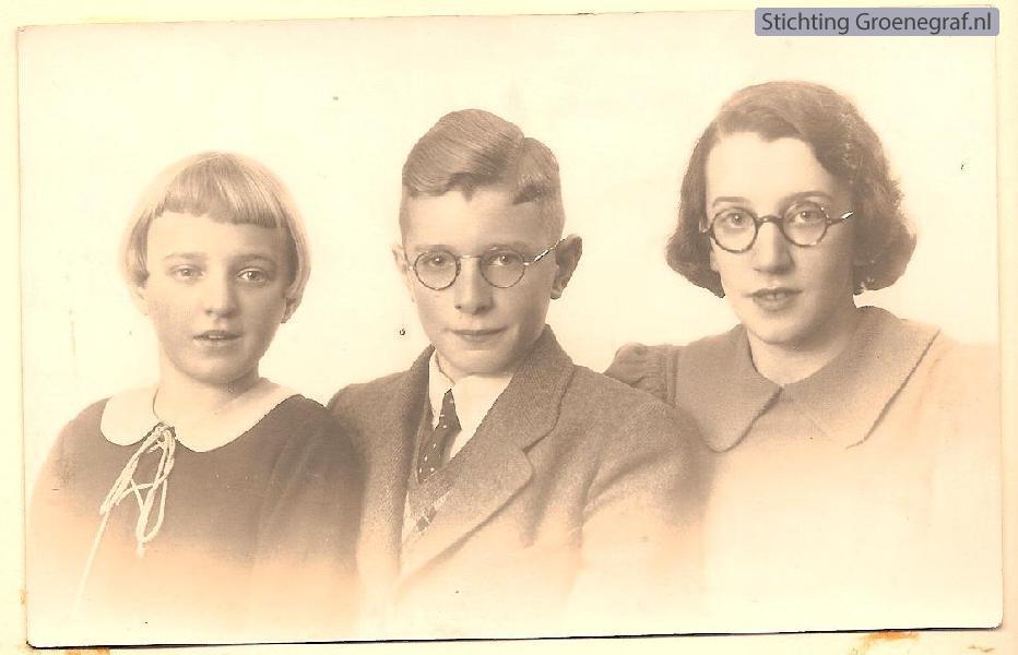 Foto  Anna, Piet en Tini Giele