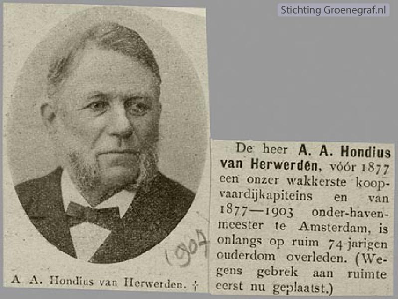 Foto  Arnoldus Abraham Hondius van Herwerden