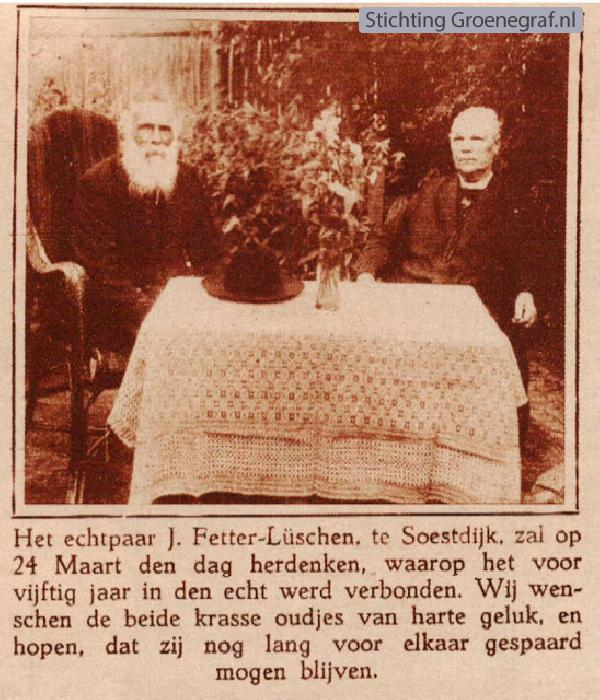 Johannes Fetter en Johanna Christina Lüschen
