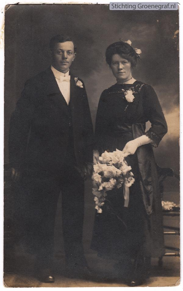 Jan van Ommen en Catharina Johanna van Dregt trouwfoto