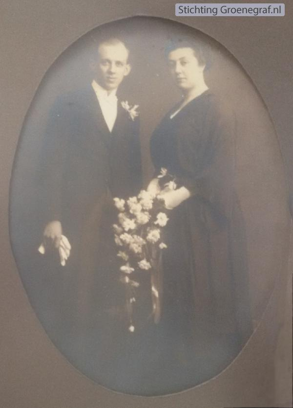Klaas Heij en Jannetje Veldhuijsen trouwfoto