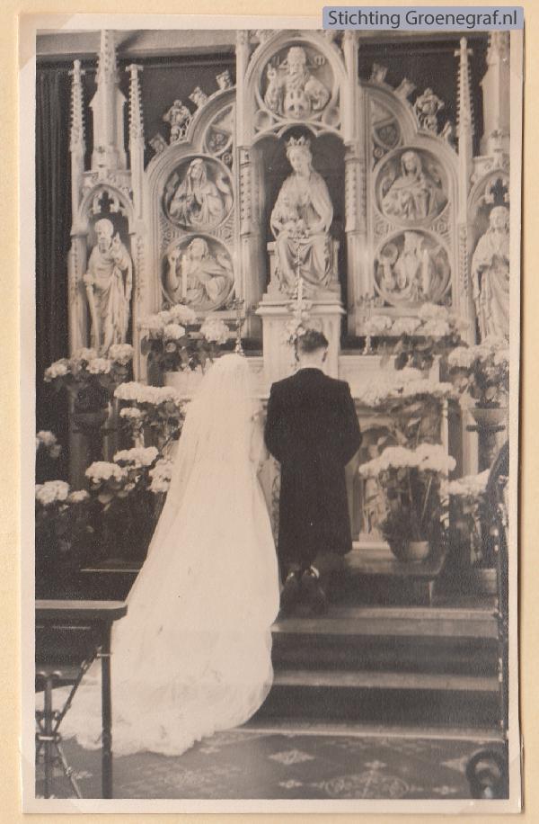Marinus Johannes van Asch en Wilhelmina Aleida Dijkman huwelijkse inzegening