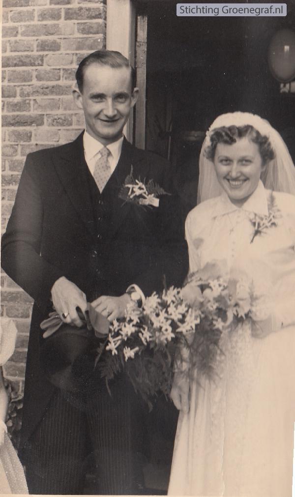 André Wilhelm van den Dijssel en Theresia C. Natter trouwftoto
