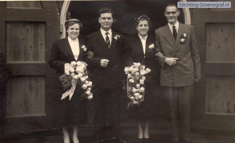 Hermina Huisman, Johannes van Charldorp, Cornelia Huisman en Gerardus Mooij