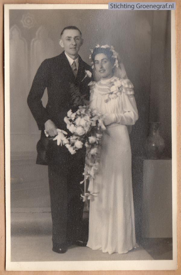 Gerrit van Essen en Johanna Cornelia Mooij trouwfoto