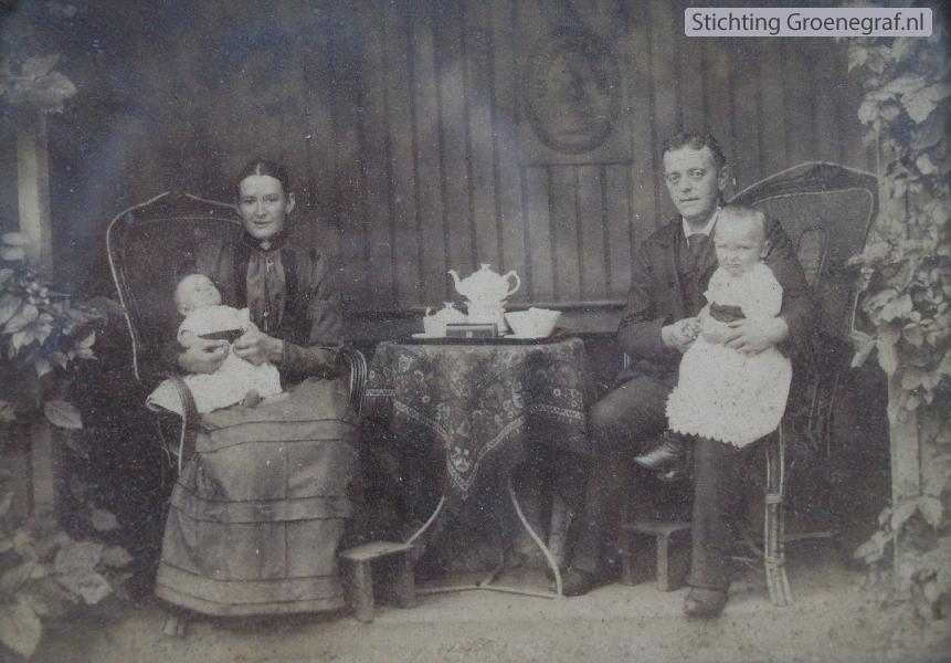 Lambertus Kuijer en Anna Johanna Spithoven met kinderen