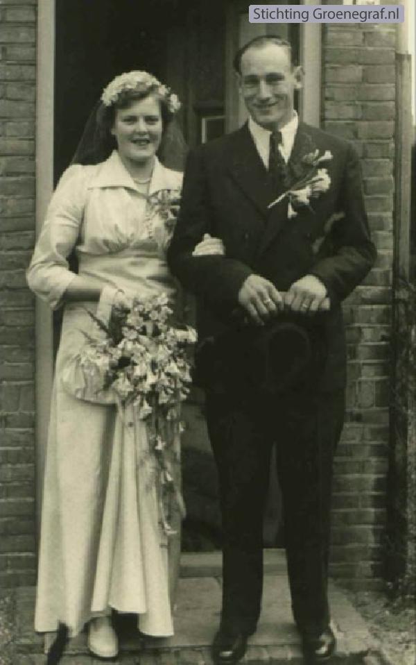 Catharina Wijnanda van Daal en Harmen Adams trouwfoto