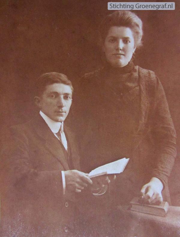 Gijsbert van den Bor en Geurtje Koenen trouwfoto