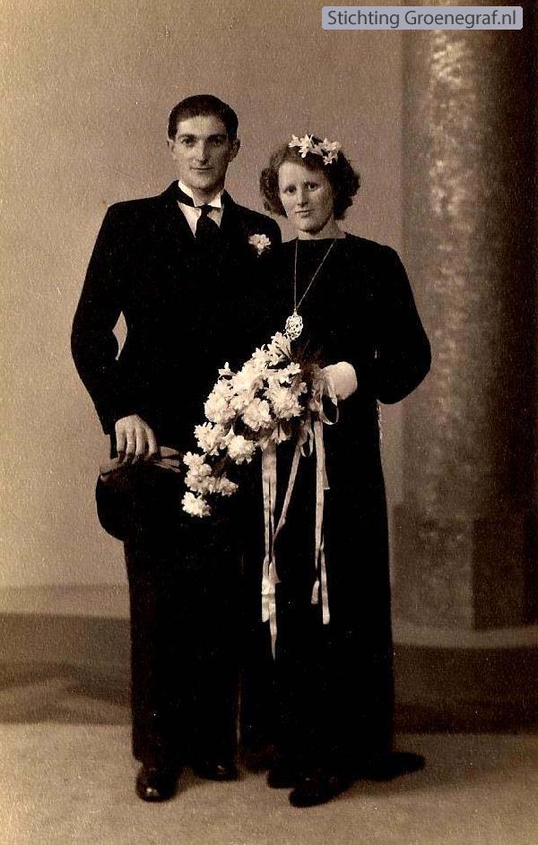 Gijsbert van den Bor en Pietronella Versteeg trouwfoto