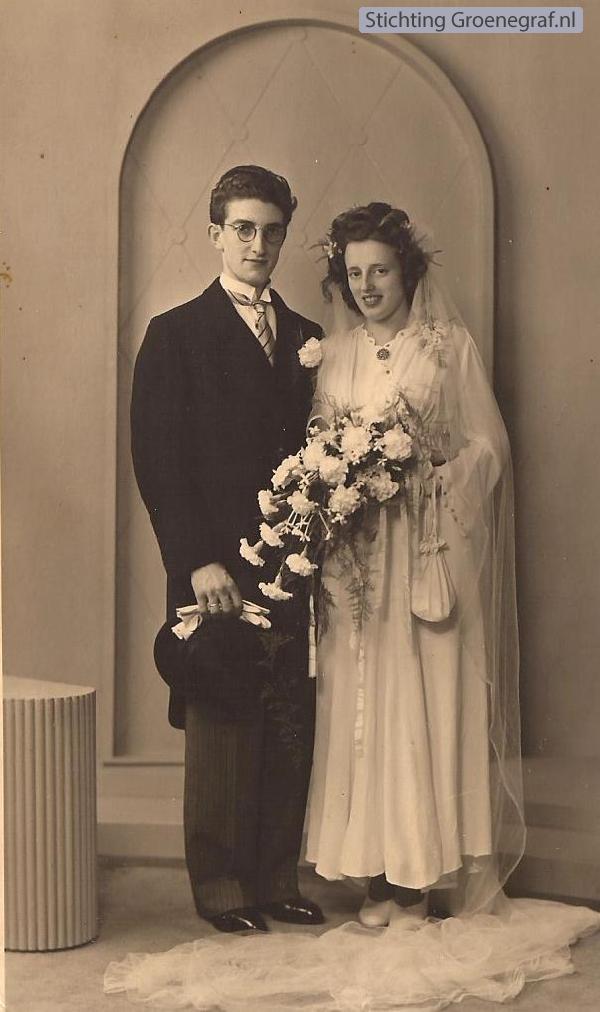 Cornelis van den Bor en Baukje Muurling trouwfoto