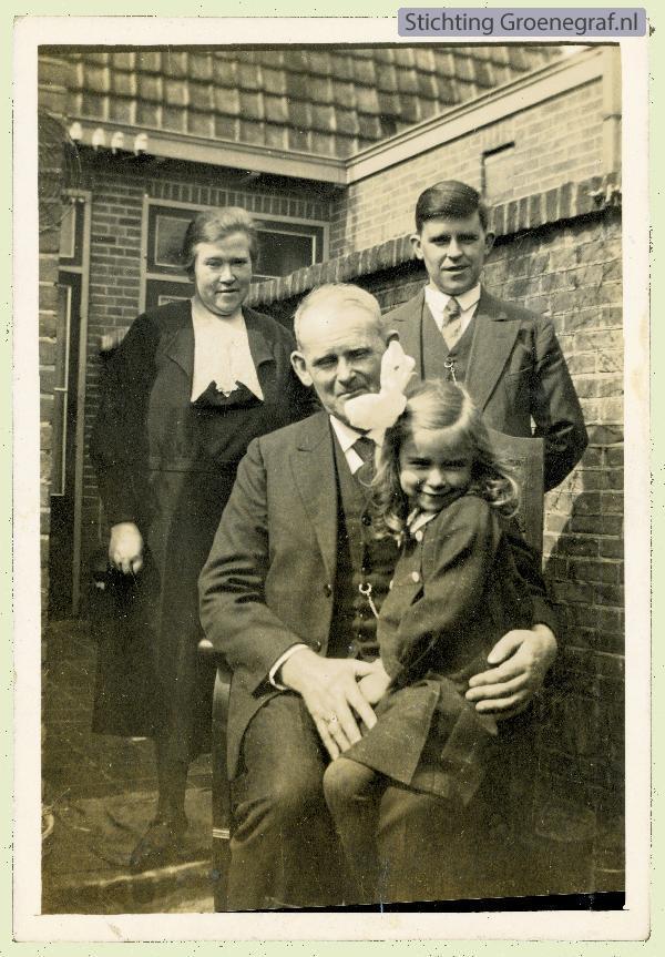 Johan Pieter Gros sr. met gezin van jr.