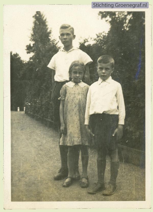Pieter, Dientje en Loek Gros