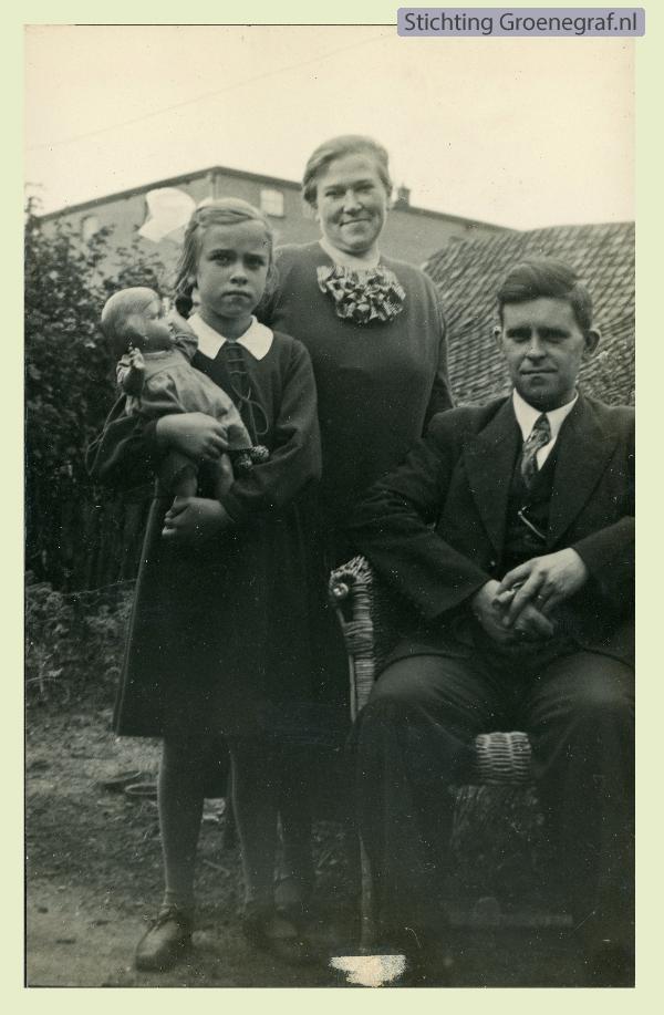 Johan Pieter Gros, Cilia Papenhuijzen en hun dochter Barendina