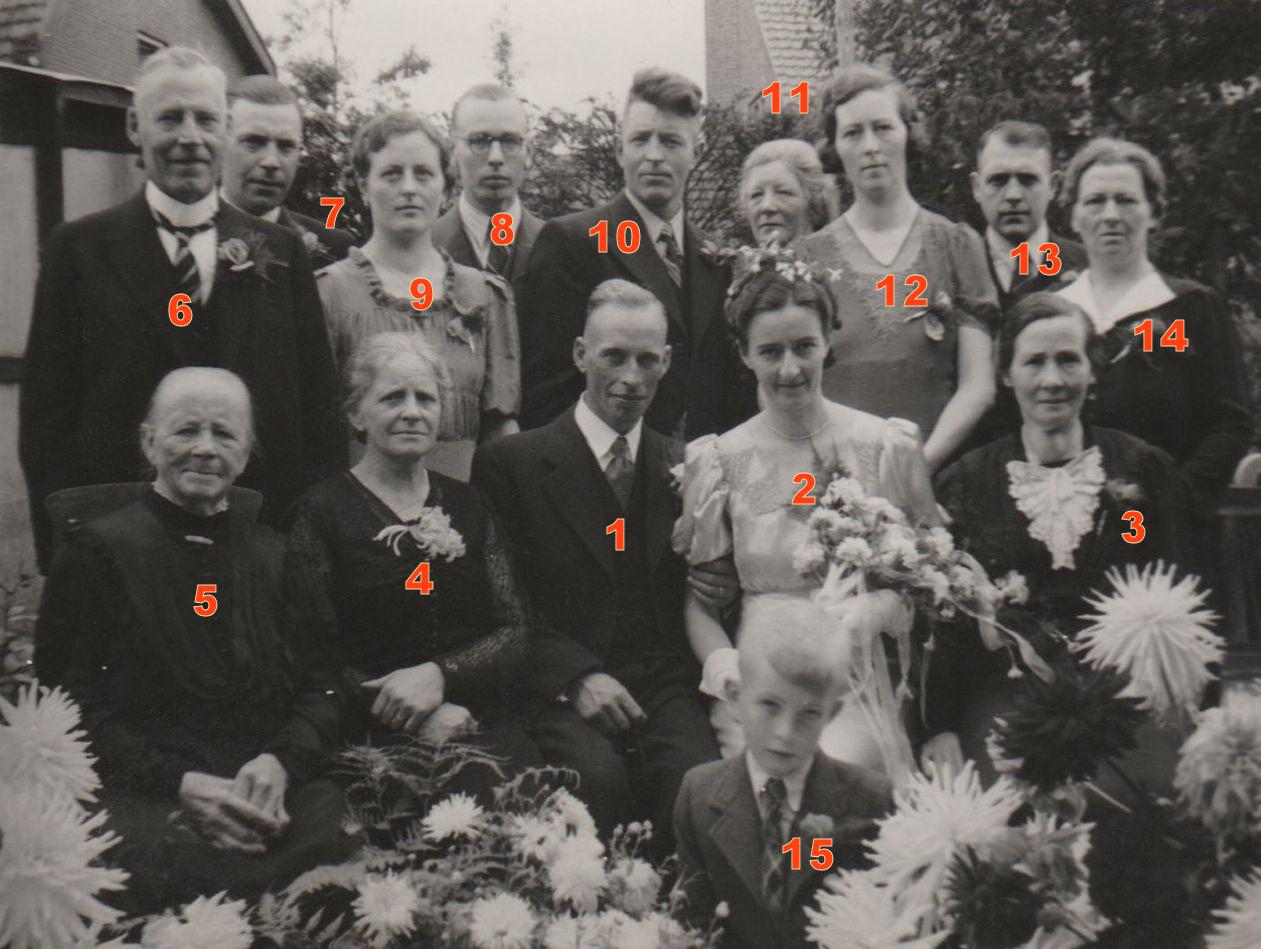 Trouwfoto Mengs de Ruig en Gerritje Hendrika van den Broek