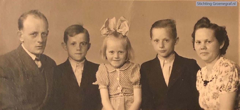 Johannes Breunesse en Klara Moras met kinderen