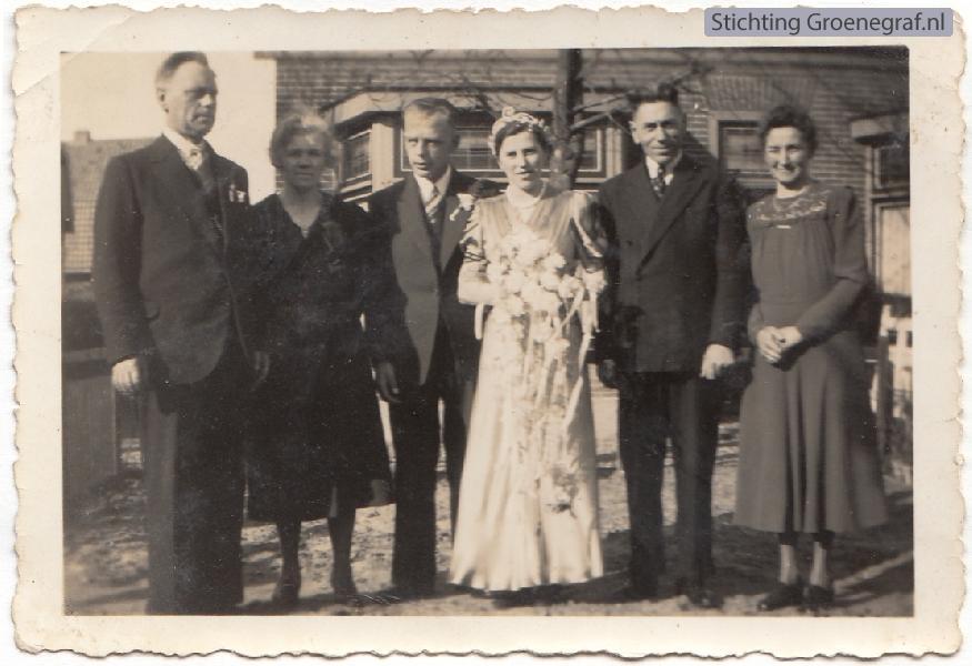 Trouwfoto Johannes Egbert de Vries en Klasina Mooij