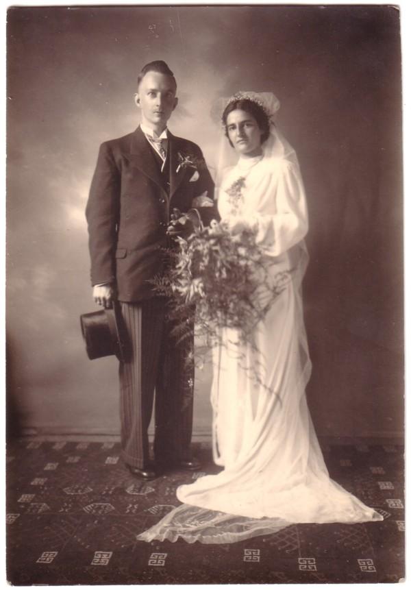 Theodorus Lambertus Lammers en Evertje Drieenhuizen trouwfoto