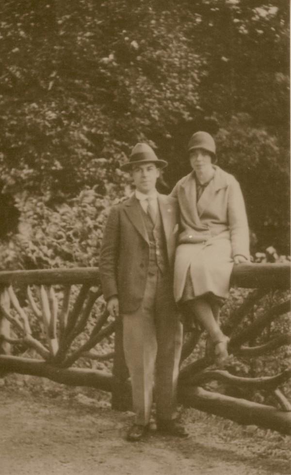 Antoni Lambertus Lammers en Elisabeth van der Horst tijdens verloving.