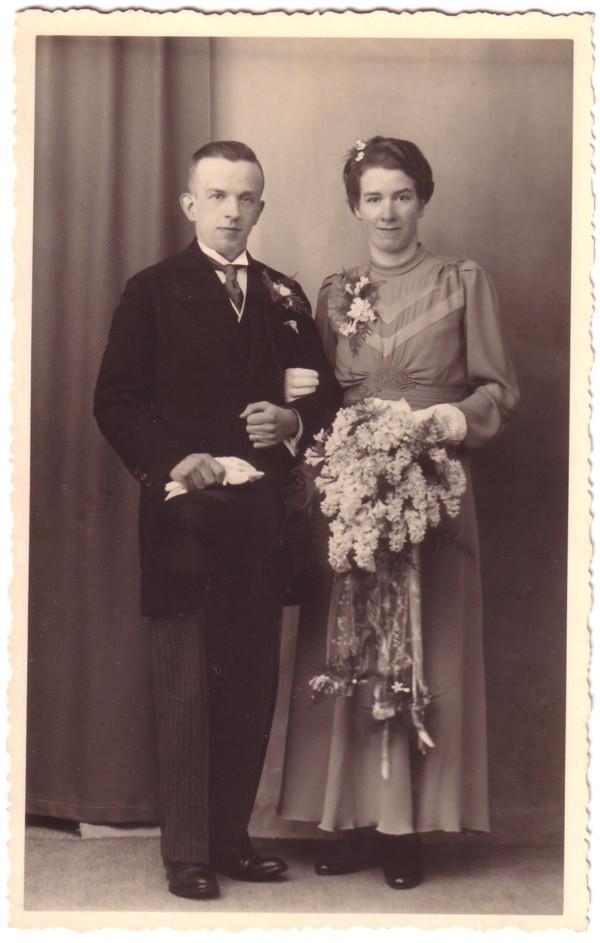 Johan Fredrik Lammers en Hendrika van Ruissen trouwfoto