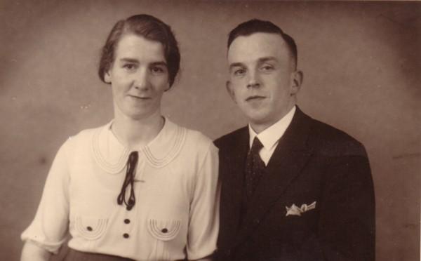 Hendrika van Ruissen en Johan Fredrik Lammers verlovingsfoto