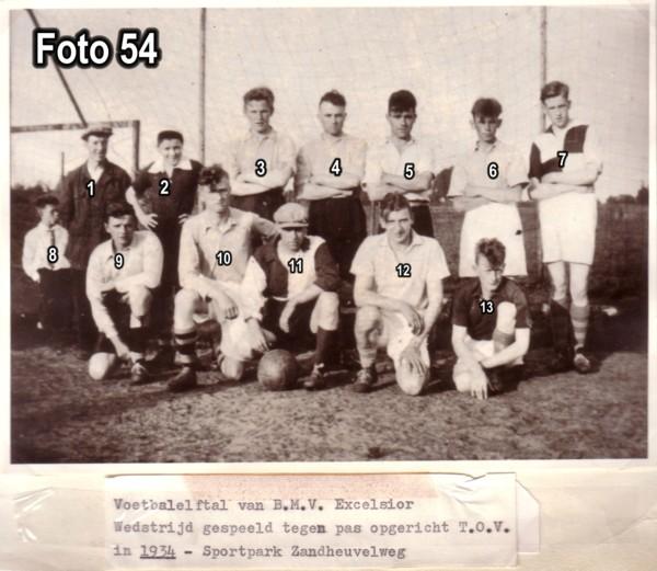 BMV Excelsior Voetbalelftal