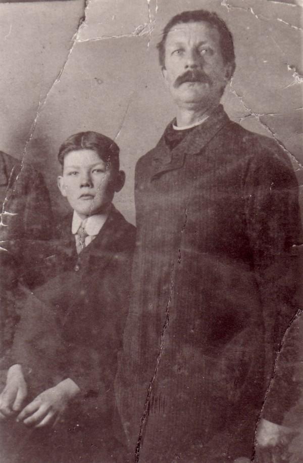 Johan Radstok en zijn vader Dirk Radstok