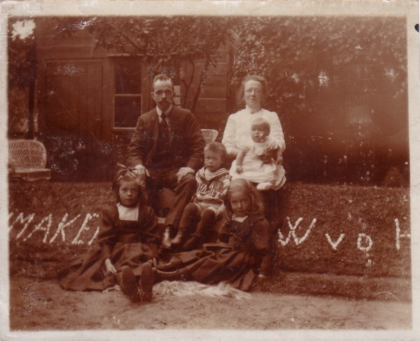 Willem van der Horst en Francina Maria Snijder met gezin