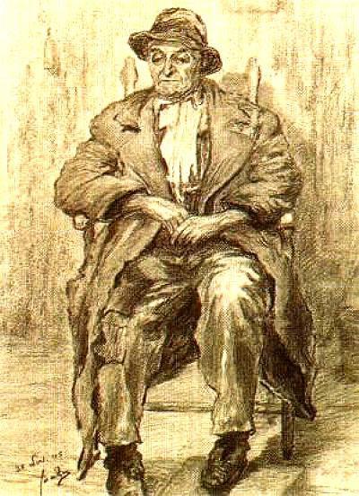 Dirk de Zoete (Hugt) getekend door Jaap de Ruig