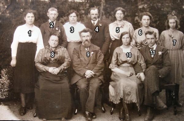 Familieportret Feijtje Hornsveld en Heimen Martensen
