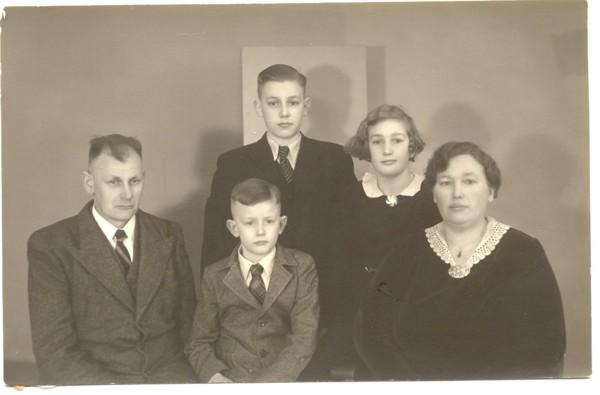 Gezin Friederich Wilhelm Roskamp en Elfriede Gerhardine Lürssen