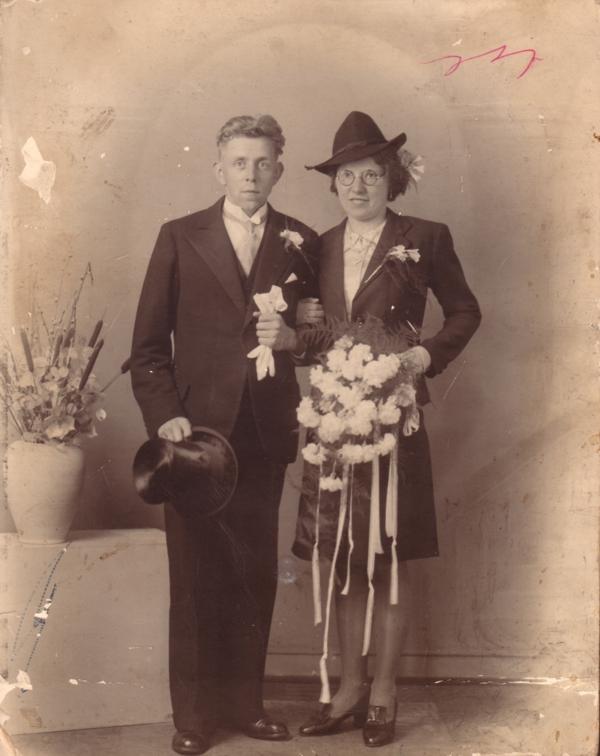 Willem de Ruiter en Sipkje Oosting trouwfoto