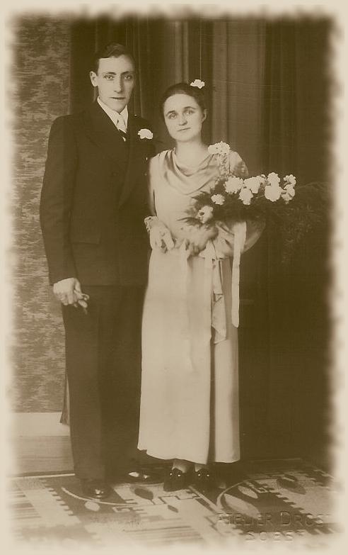 Gerrit Koenen en Dirkje Maria van Hornsveld trouwfoto