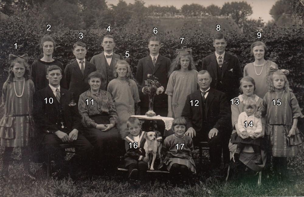Dirk van der Vuurst en Cornelia Margaretha van Zetten met gezin