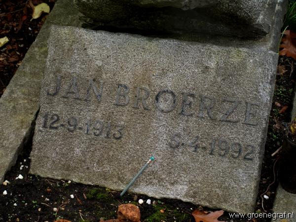 Grafmonument grafsteen Jan  Broerze