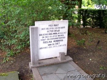 Grafmonument grafsteen Roelina Hendrika van de Riet