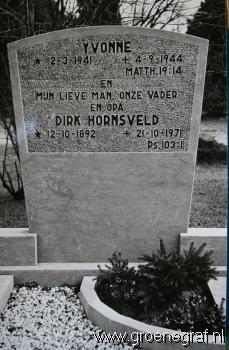 Grafmonument grafsteen Dirk  Hornsveld