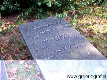 Grafmonument grafsteen Willem  Egels