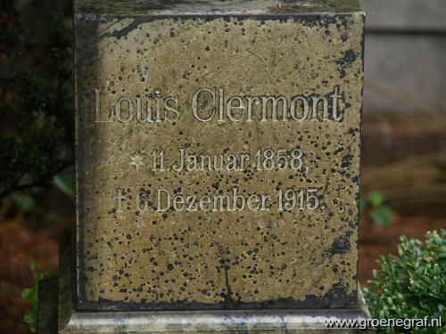Grafmonument grafsteen Ernst Louis  Clermont