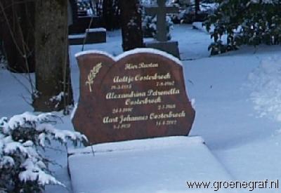 Grafmonument grafsteen Alexandrina Petronella  Oosterbroek