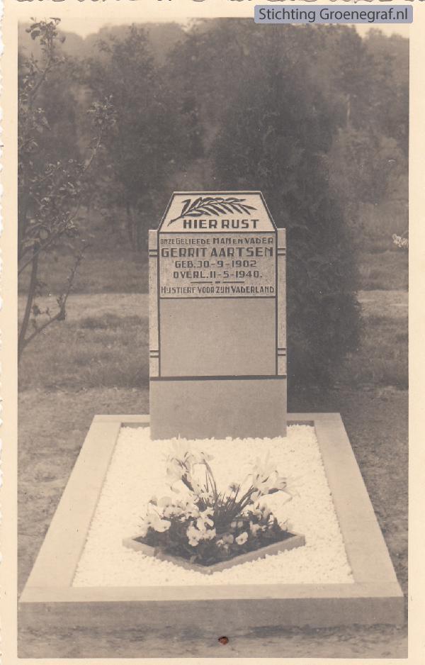 Grafmonument grafsteen Gerrit  Aartsen