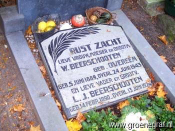 Grafmonument grafsteen Leendert Johannis  Beerschooten