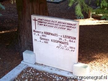 Grafmonument grafsteen Marretje van Leersum